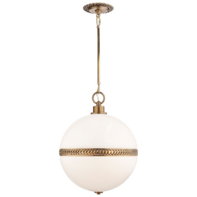 Hendricks Large Globe Pendant in Natural Brass