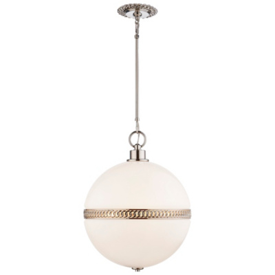 Hendricks Large Globe Pendant in Polished Nickel