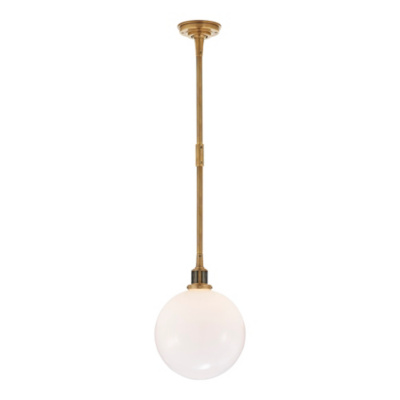 McCarren Globe Small Pendant in Natural Brass