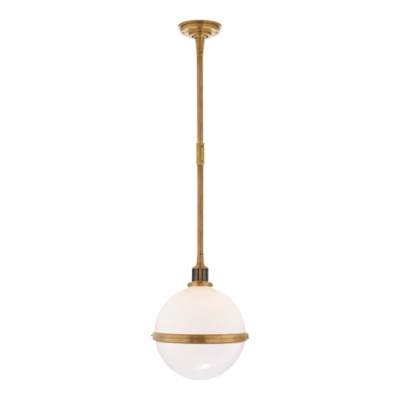 McCarren Globe Large Pendant in Natural Brass
