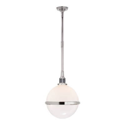 McCarren Globe Large Pendant in Polished Nickel