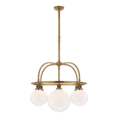 McCarren Single Tier Chandelier in Natural Brass