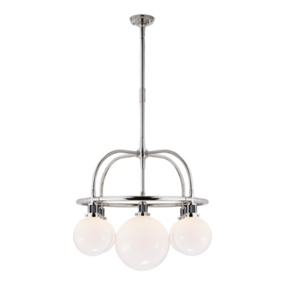 McCarren Single Tier Chandelier in Polished Nickel