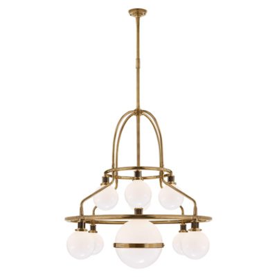 McCarren Triple Tier Chandelier in Natural Brass