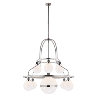 McCarren Triple Tier Chandelier in Polished Nickel