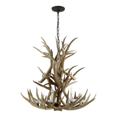 Straton Single Tier Chandelier - Natural