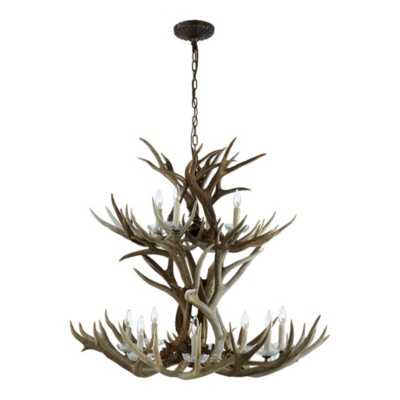 Straton Double Tier Chandelier - Natural