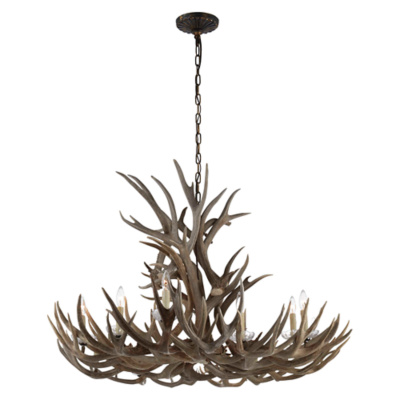 Straton Wide Chandelier in Bone