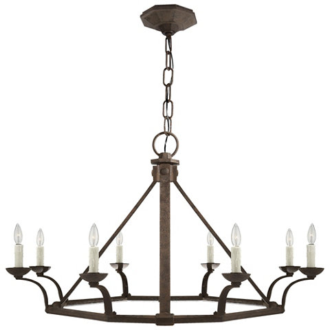 Robertson Single Tier Chandelier In Natural Rust Ceiling Fixtures Lightin