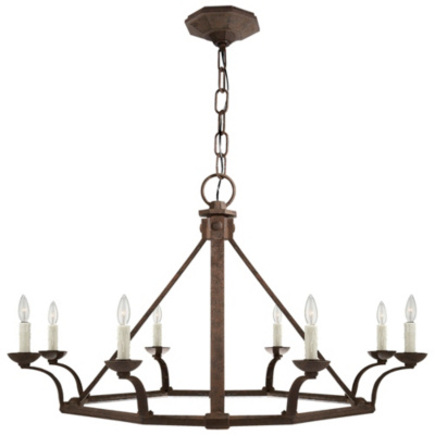 Robertson Single Tier Chandelier in Natural Rust