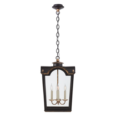 Brinkley Small Lantern in Old Black Tole