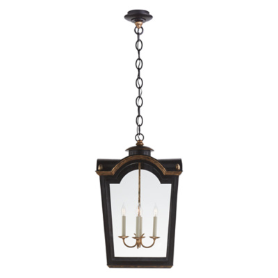 Brinkley Large Lantern in Old Black Tole