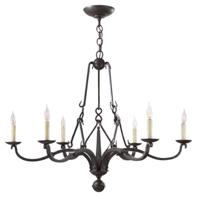 Allegra Medium Chandelier in Aged Iron