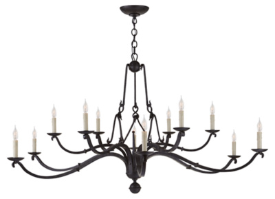 Allegra Large Chandelier in Aged Iron