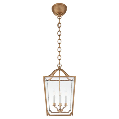 Beatrice Small Lantern in Gilded Iron