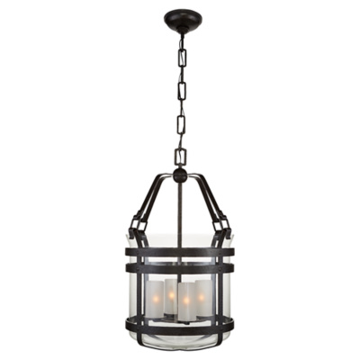 Corbett Medium Smoke Bell Lantern in Aged Iron