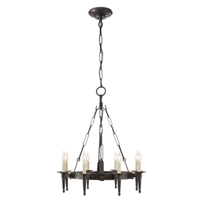 Branson Small Chandelier in Aged Iron