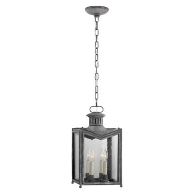 Mills Small Hanging Lantern in Garden Zinc