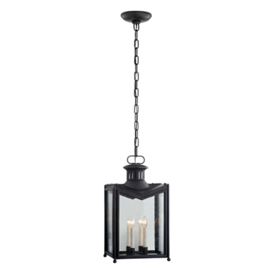 Mills Medium Hanging Lantern in Aged Iron