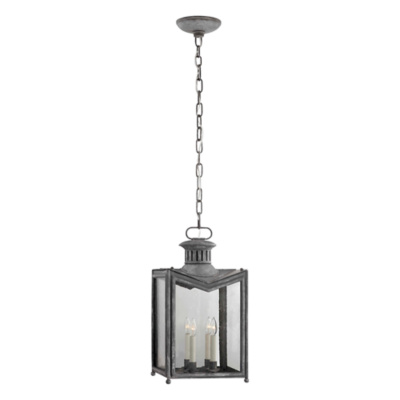 Mills Medium Hanging Lantern in Garden Zinc