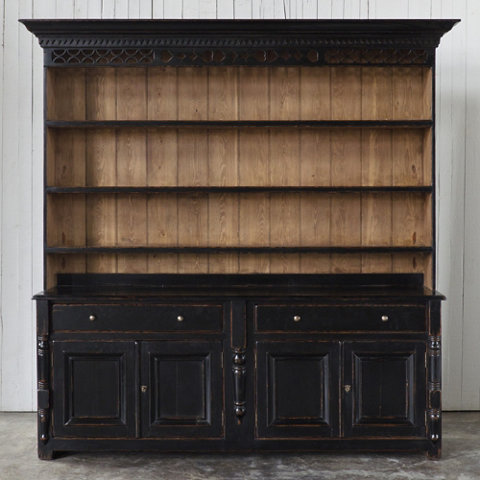 White Rectangular Sideboard with 2-Doors and 4-Drawers