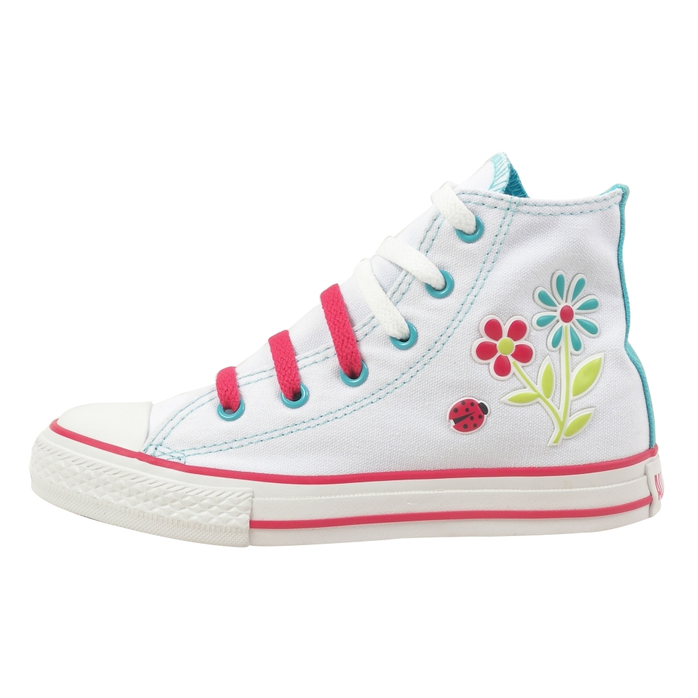 Converse Chuck Taylor All Star Flowers Hi Retro Shoes - Kids - ShoeBacca.com