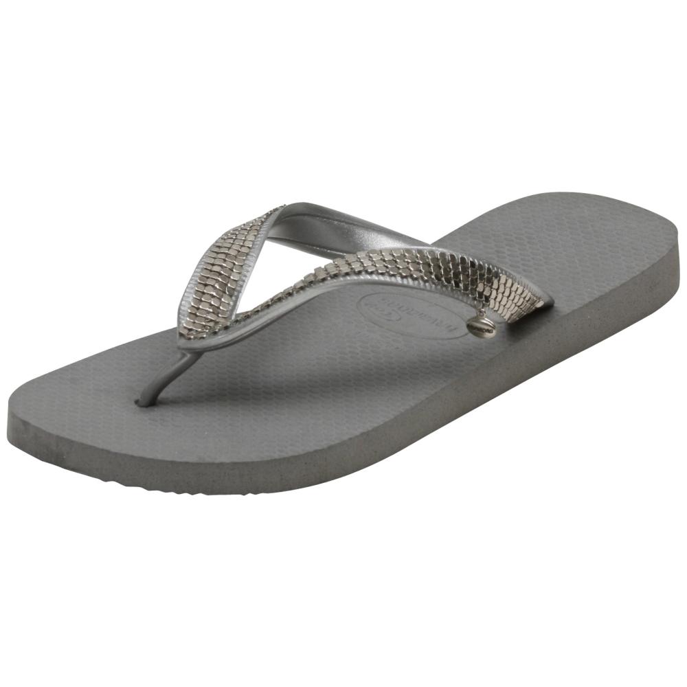 Havaianas Metal Mesh Silver Sandals - Women - ShoeBacca.com