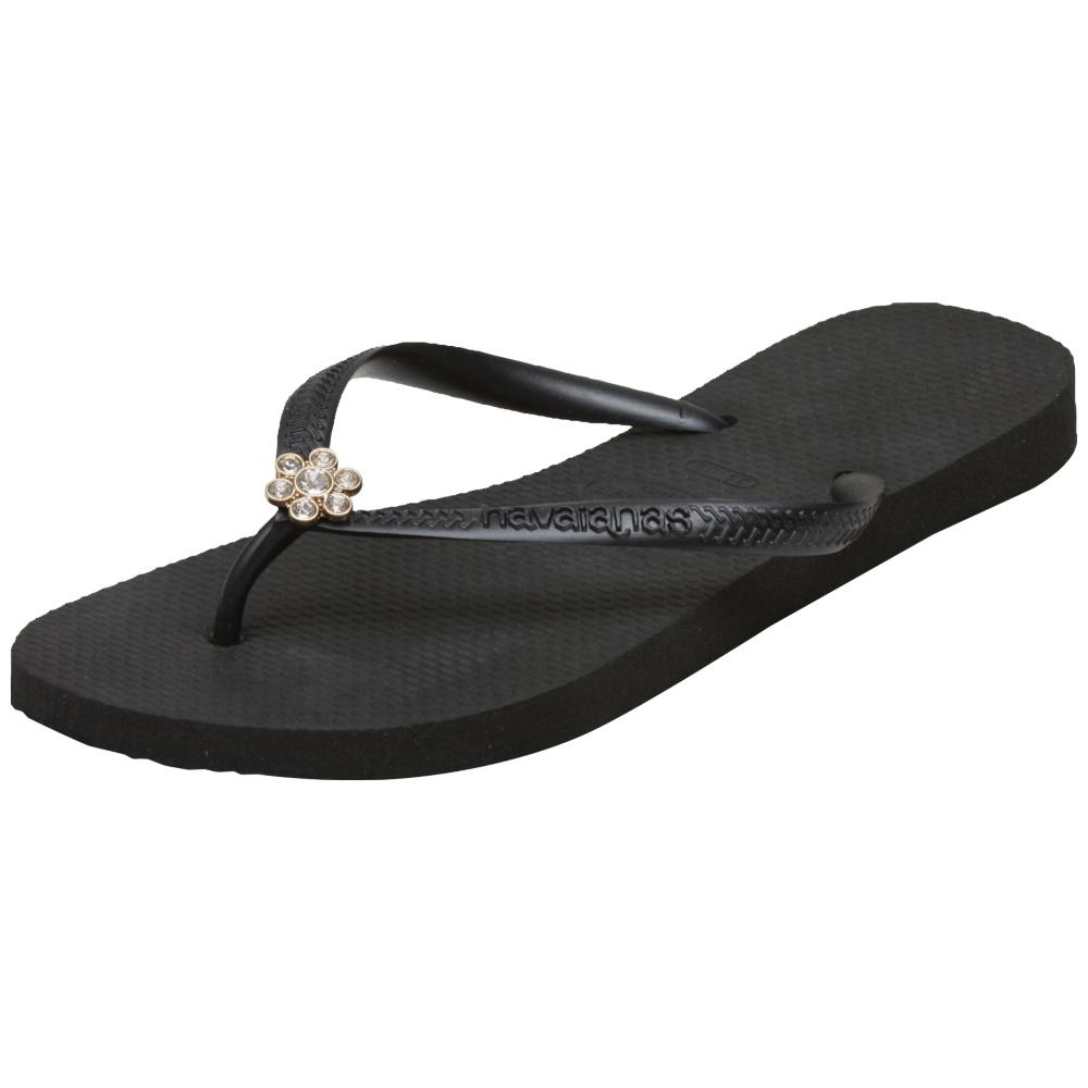 Havaianas Slim Crystal Flower Sandals - Women - ShoeBacca.com
