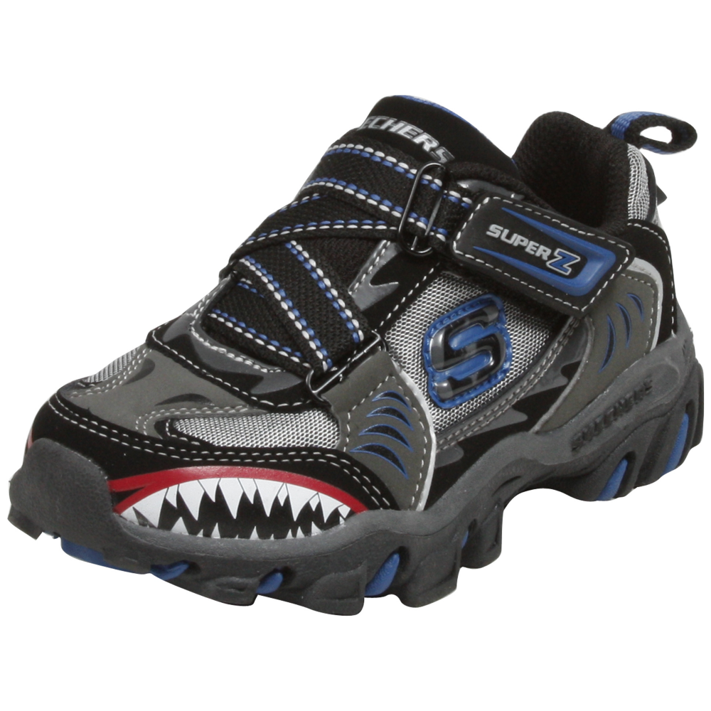 Skechers Afterburn - Sharks Tooth (Toddlers/Youth) Athletic Inspired Shoe - Toddler,Youth - ShoeBacca.com