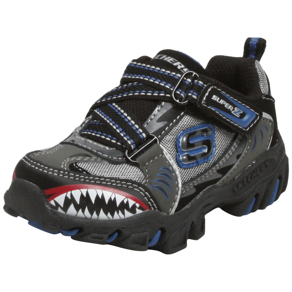 Skechers Afterburn - Sharks Tooth (Toddlers) Athletic Inspired Shoe - Toddler - ShoeBacca.com