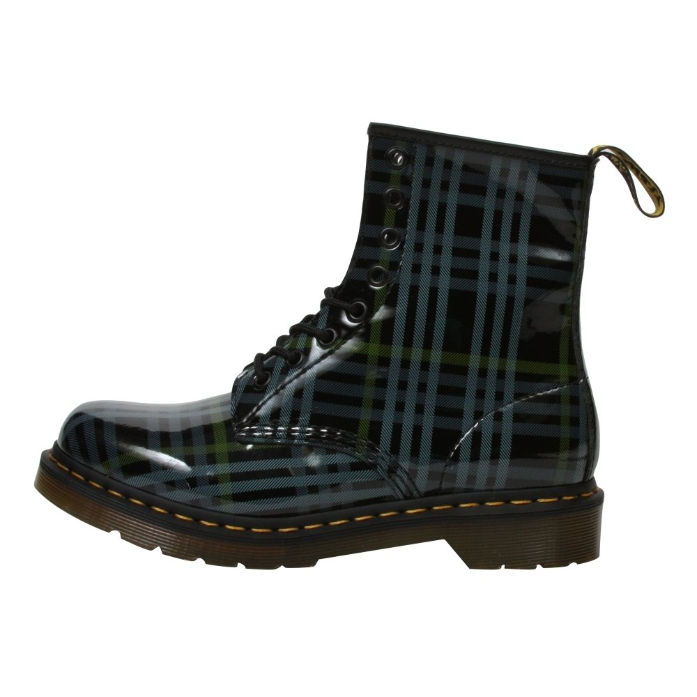 Dr. Martens Women's 1460W Plaid Leather - 8 Eyelet Lace-Up Combat Boots