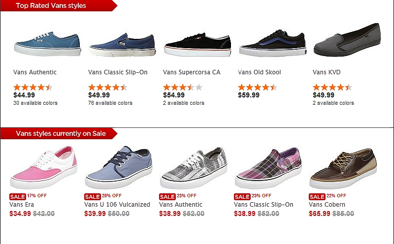 Different Types Of Vans Shoes Names