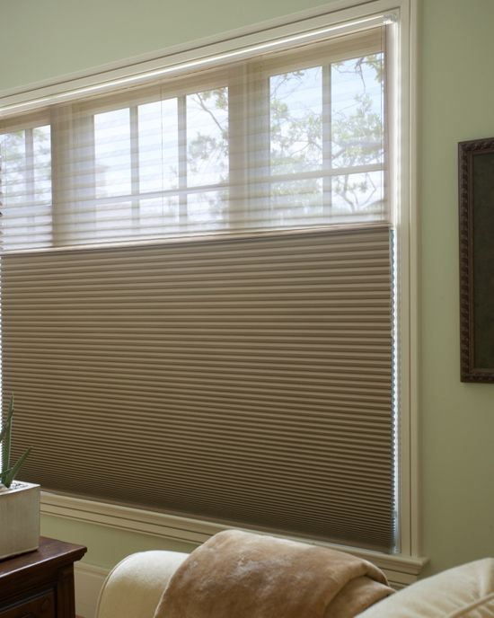 Dualview grand bo cell honeycomb shades cellular window for Smith and noble shades