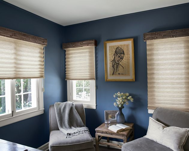 Natural woven bamboo cornice for Smith and noble bamboo shades