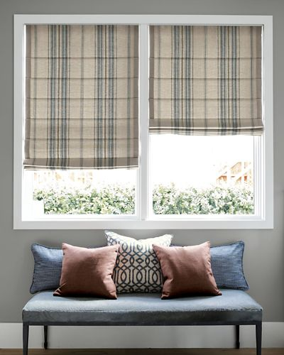 Classic roman fabric shades for Smith and noble shades