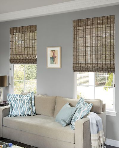 Natural woven tailored shades for Smith and noble natural woven shades