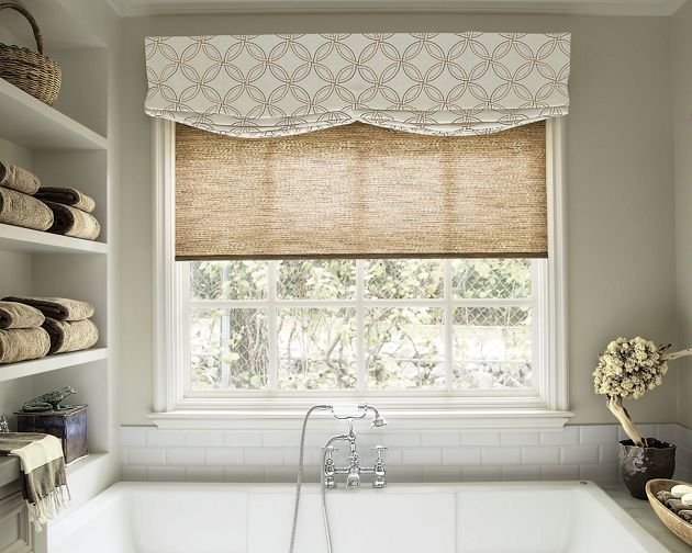 Relaxed roman fabric valance for Smith noble shades