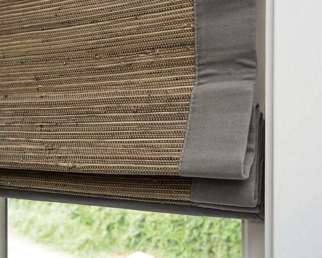 Natural woven flat fold shades for Smith and noble natural woven shades