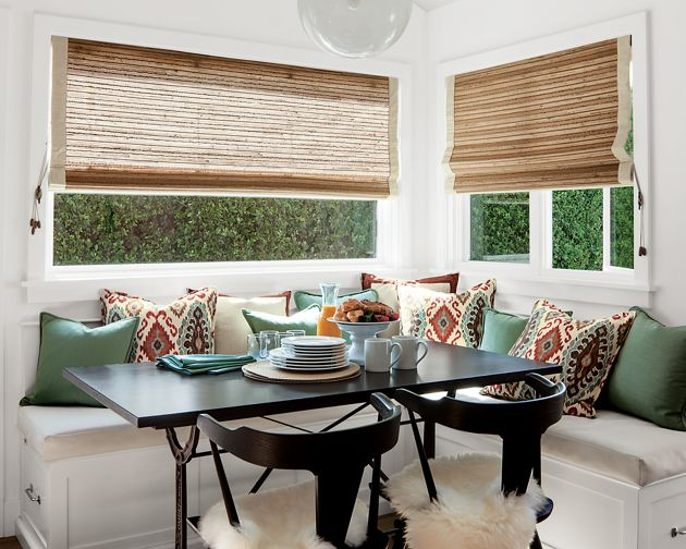 Natural woven waterfall shades for Smith and noble natural woven shades