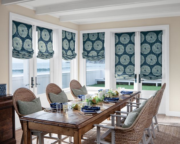 Relaxed roman fabric shades for Smith and noble shades