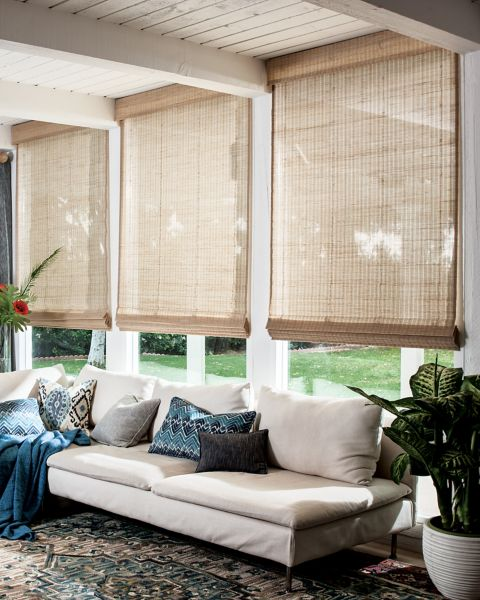 Couture Weaves Natural Woven Flat Fold Shades