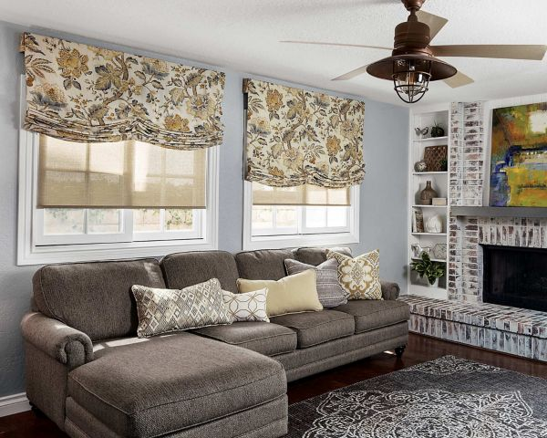 relaxed roman fabric shade