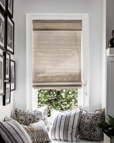 Natural woven flat fold shades for Natural woven flat fold shades