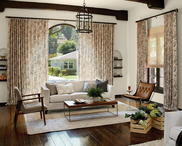 Natural woven cordless waterfall shades for Smith and noble natural woven shades