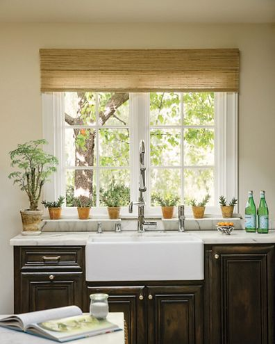 Wendy bellissimo natural woven waterfall valance for Smith and noble bamboo shades