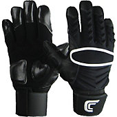 Cutters Adult Reinforcer Black Lineman Gloves