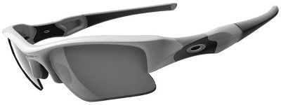 Oakley Mens Flak Jacket XLJ White Iridium Sunglasses