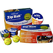 Softball Excellence Zip Ball Training Aid Kit - (12 Balls) with Instructional Drills DVD
