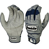 Franklin Adult Gry/Navy Tectonic Pro Batting Gloves