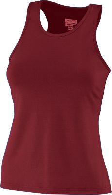 Augusta Ladies Maroon Racerback Tank Top plus size,  plus size fashion plus size appare